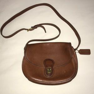 Vintage Coach Saddle Bag
